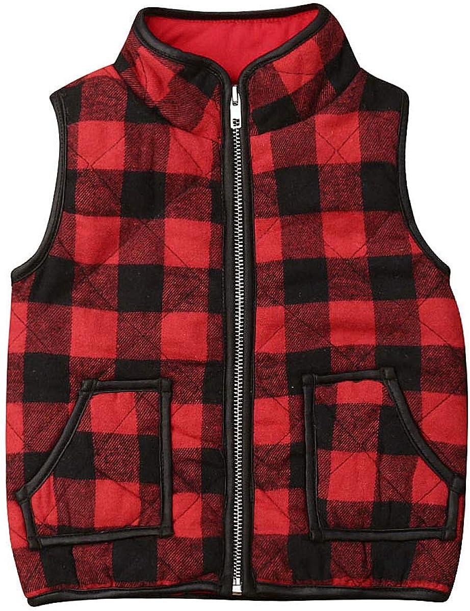 ZAXARRA Toddler Baby Girls Vest Outwear Jacket Sleeveless Waistcoat Warm Winter Coats