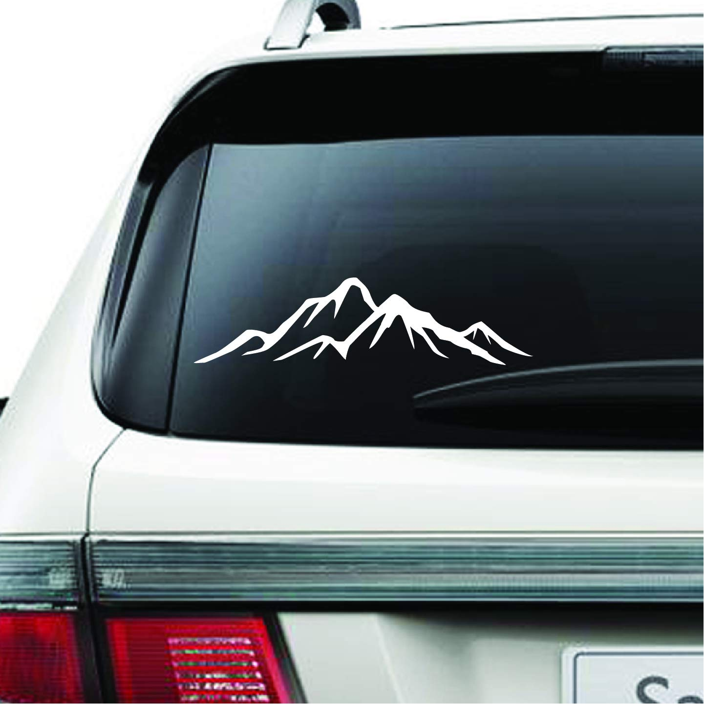 Mountain Wall Car Decal - Inspriational Quotes Mountains Travel Vinyl Wall Decals Home Decor - Vinyl Sticker for Vehicles Car Nursery Bedroom Living Room D7