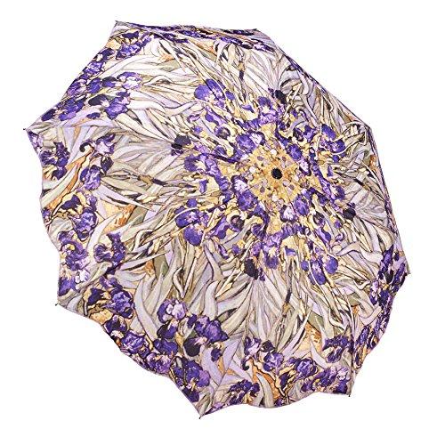 Galleria Van Gogh Irises Auto Openclose Super-mini Umbrella - Irises