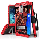 LG Aristo, Phoenix 3, LG Fortune, LV3, LG K8 2017, Risio 2, Rebel 2 LTE Case, Trishield Durable Phone Cover With Lanyard Loop Holster And Built in Kickstand Card Slot - Fire Fighter Bring It On