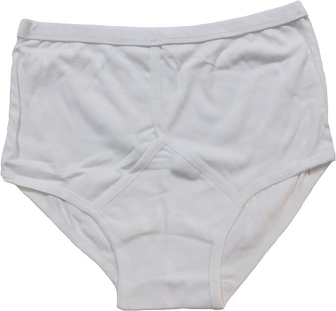 3XL 4XL 5XL White 3 Mens Y Fronts 100/% Cotton Interlock Briefs Underwear