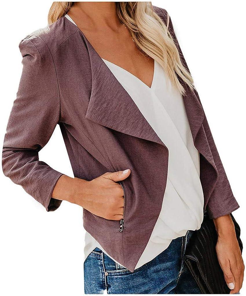 Fashion Plain Cardigan Coat Outwear for Women Long Sleeve Cardigans Warm Vests Outerwear Miuye yuren