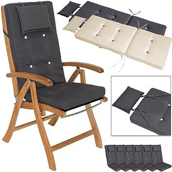 Hochlehner 4er Set Auflagen Stuhlauflage Sitzauflagen Gartenstuhl Sitzkissen