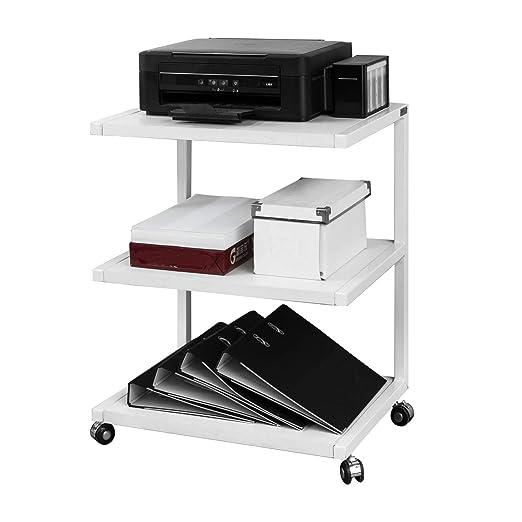 SoBuy FRG81-W, IT — Estante para impresora, con ruedas, mesa de ...