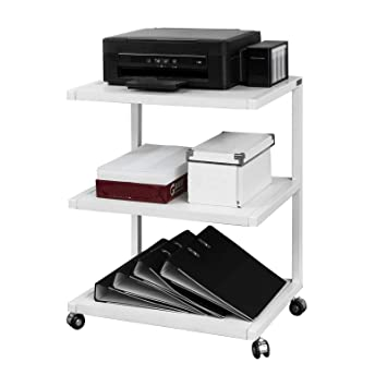 SoBuy Mesa Auxiliar con Ruedas,Consola con 3 Estantes para Cocina o Salón,Blanco,FRG81-W,ES: Amazon.es: Hogar