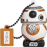 Tribe Star Wars 8 BB8 Clé USB 16 Go Fantaisie Pendrive USB Flash Drive 2.0 Originale Stockage Memoire, Idee Cadeau Figurine 3D, Stockage USB en PVC avec Porte-Clés