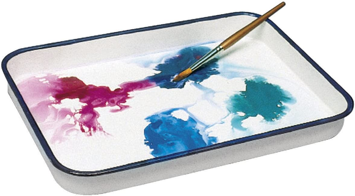 White Pack of 2 11 x 15 in Jack Richeson Butcher Porcelain Palette Tray