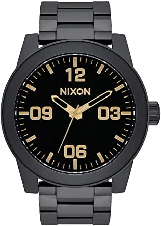 Nixon Corporal SS A346. 100m Water Resistant XL Men's Watch (48mm Watch Face. 24mm Stainless Steel Band)