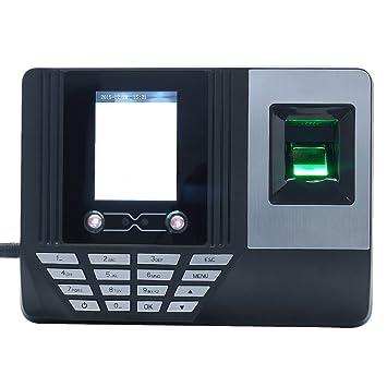"""KKmoon Digitales Biométrico Tiempo Máquina de Asistencia por Huella Dactilar y Reconocimiento Facial , 2.8 """""""