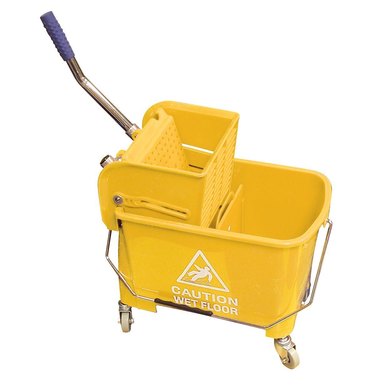 SIDEPRESS Wringer Bucket Combo - 5 GAL (21 L) - Yellow Johnny Vac