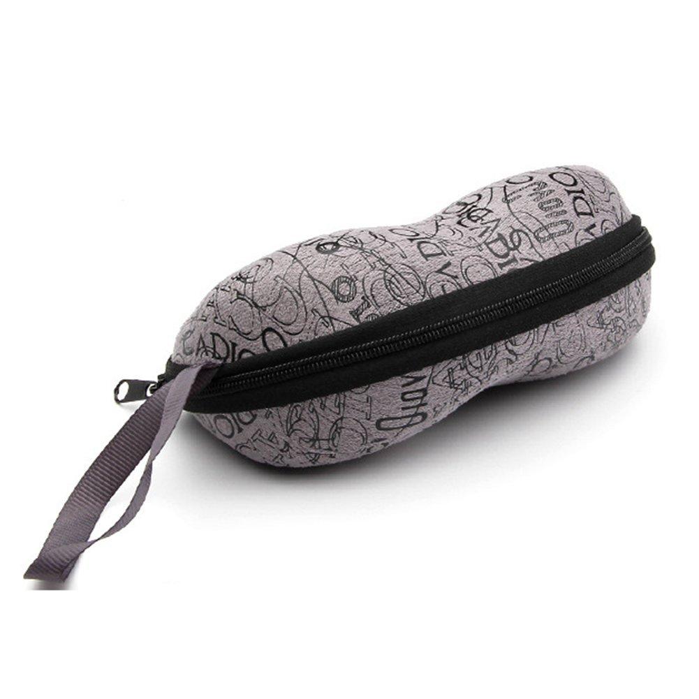 Yonger Portable Carabiner EVA Sunglasses Eye Glasses Case with Zipper Hard Shell Protector Box for Women Men
