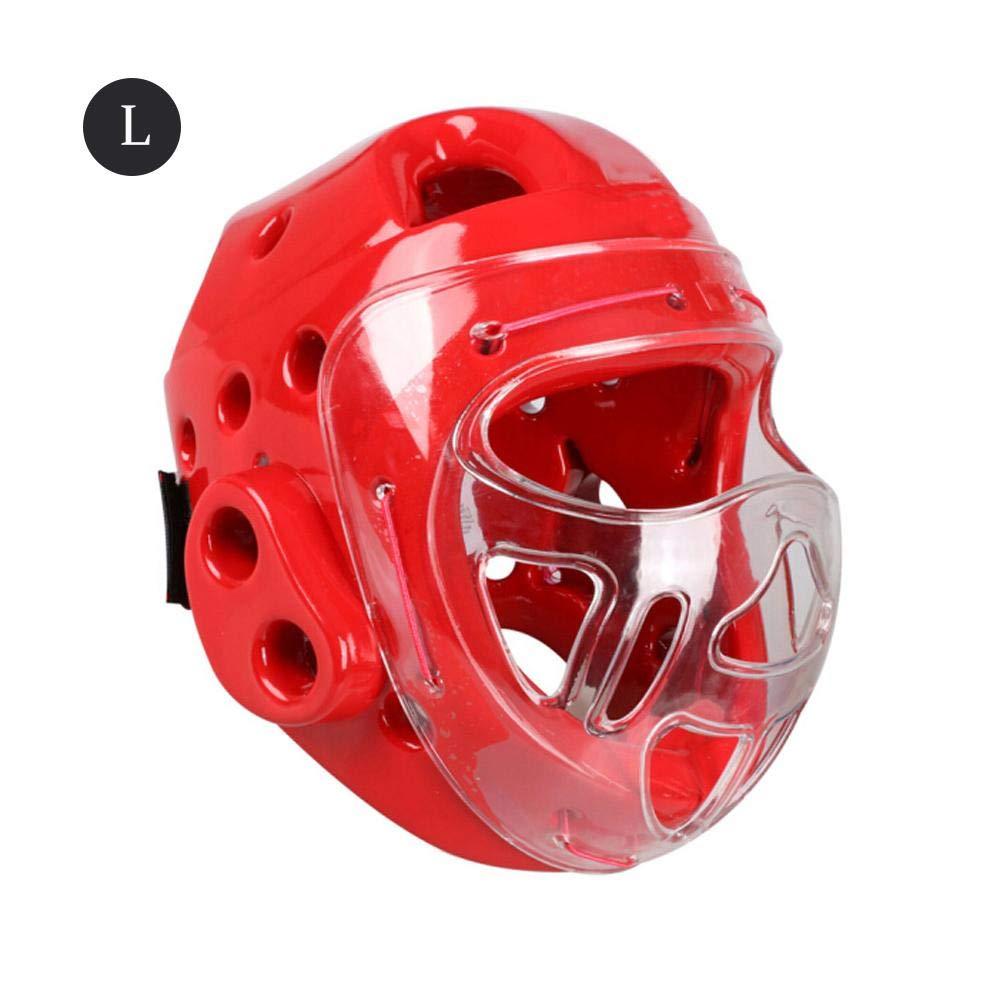 Headgear Ganzkopf-Schutzausr/üstung Sparring Knowled Kopfmaske Helmet Taekwondo Karate Boxen Sanda Sicherheitsmaske f/ür Kinder Erwachsene Taekwondo-Helm mit Gesichtsschutz