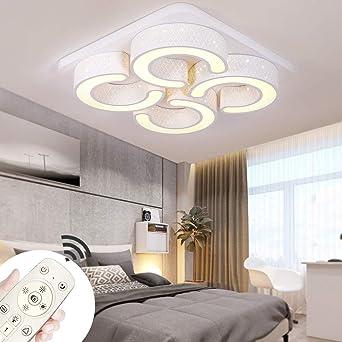 MYHOO 78W LED Deckenleuchte Dimmbar Deckenlampe Modern Wohnzimmer ...