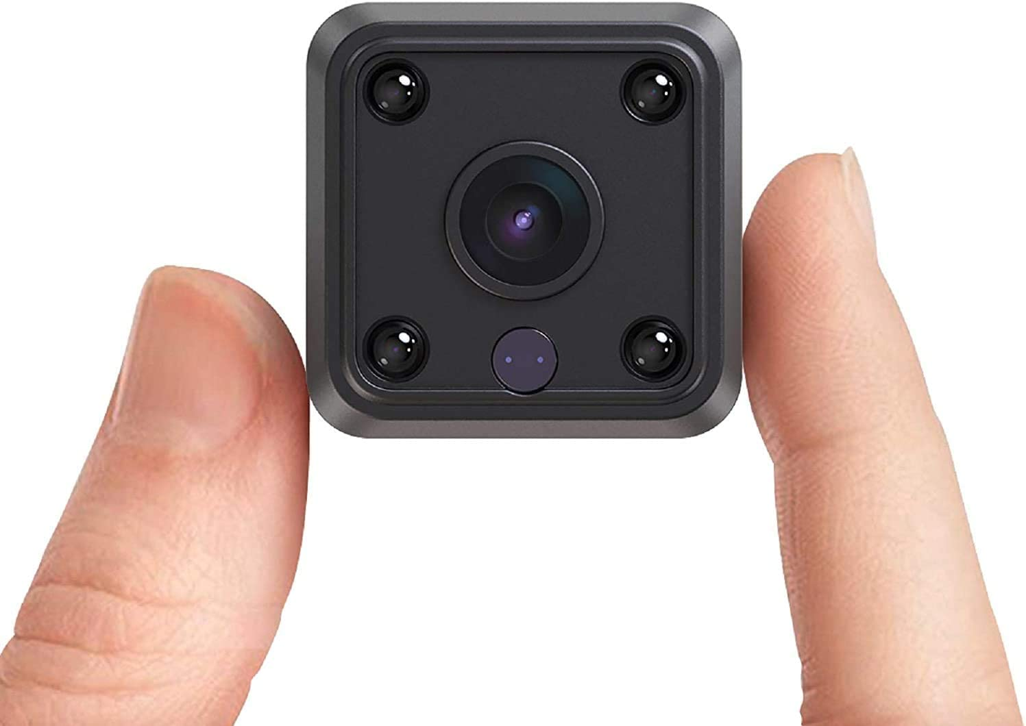 Mini Spy Camera HD Hidden Camera - Portable Small HD Nanny Cam with Night Vision and Motion Detection - Indoor Covert Security Camera for Home and Office - Hidden Spy Cam - Built-in Battery