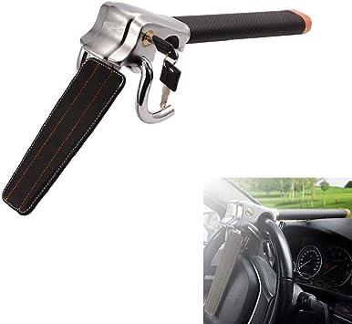 Minivans /& SUVs Pickup Trucks Universal Anti-Theft Car Steering Wheel Lock Auto Steering Wheel Security Lock for Cars