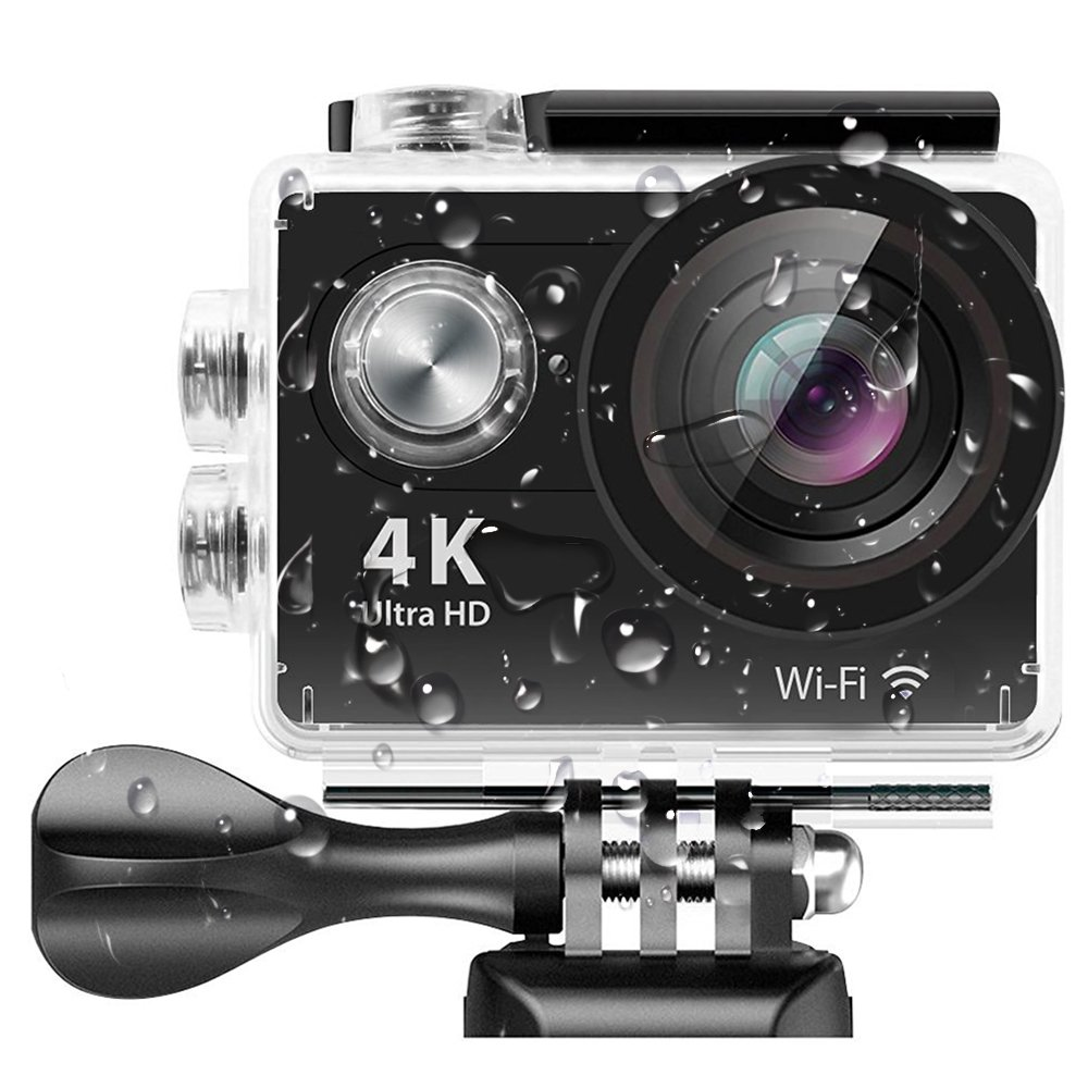 4K Action Camera,Banne 4D3 Ultra HD Waterproof DV Camcorder 12MP 170 Degree Wide Angle- Include Full Accesspries Kits (H9R)