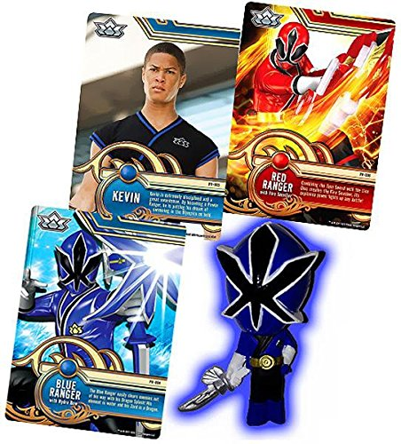Power Rangers SUPER Samurai 1 Inch PVC Mini Figure & Trading Card Blue Ranger ()
