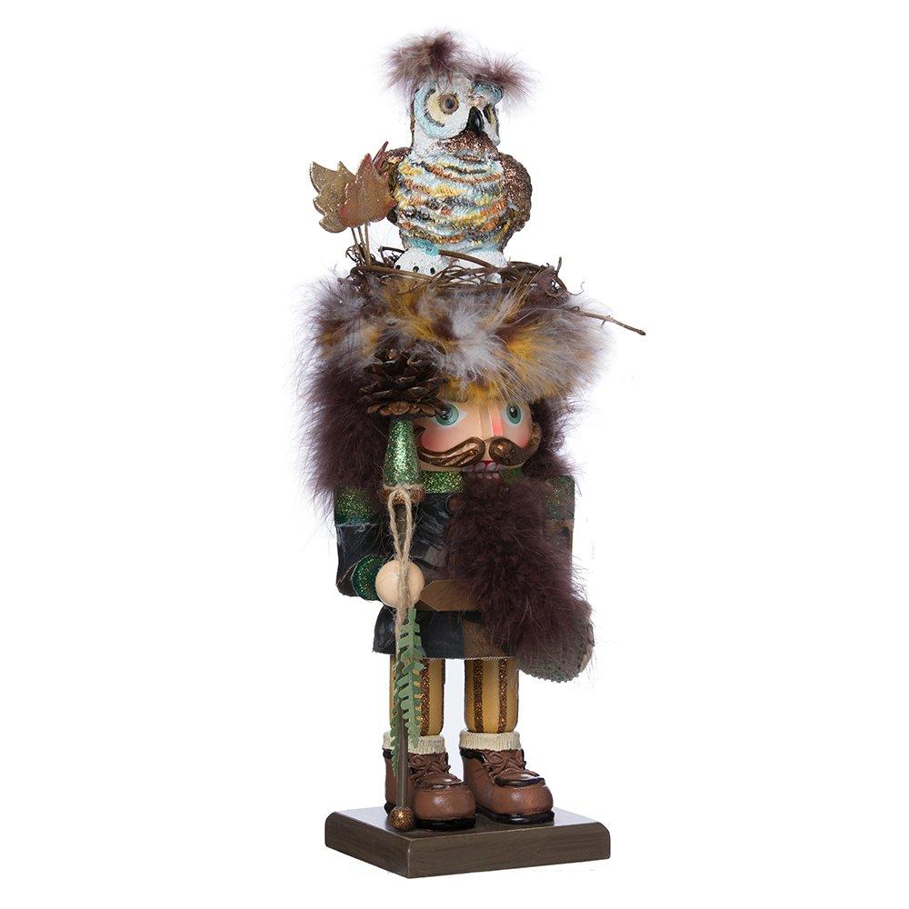 Kurt Adler 16-Inch Hollywood Woodsman Nutcracker with Owl Hat