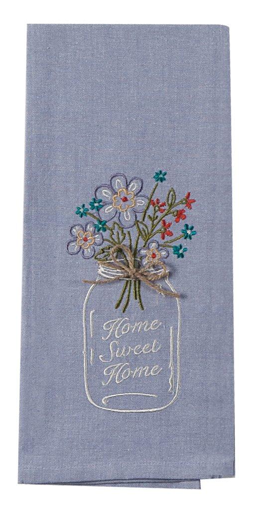 Kay Dee Designs F0747 Home Sweet Home Mason Jar Embroidered Tea Towel