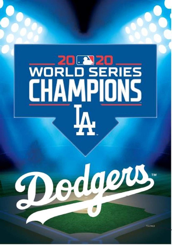 Evergreen Enterprises, Inc. Dodgers 2020 Champions Premium 2-Sided Garden Flag House Nylon Banner World Series Baseball