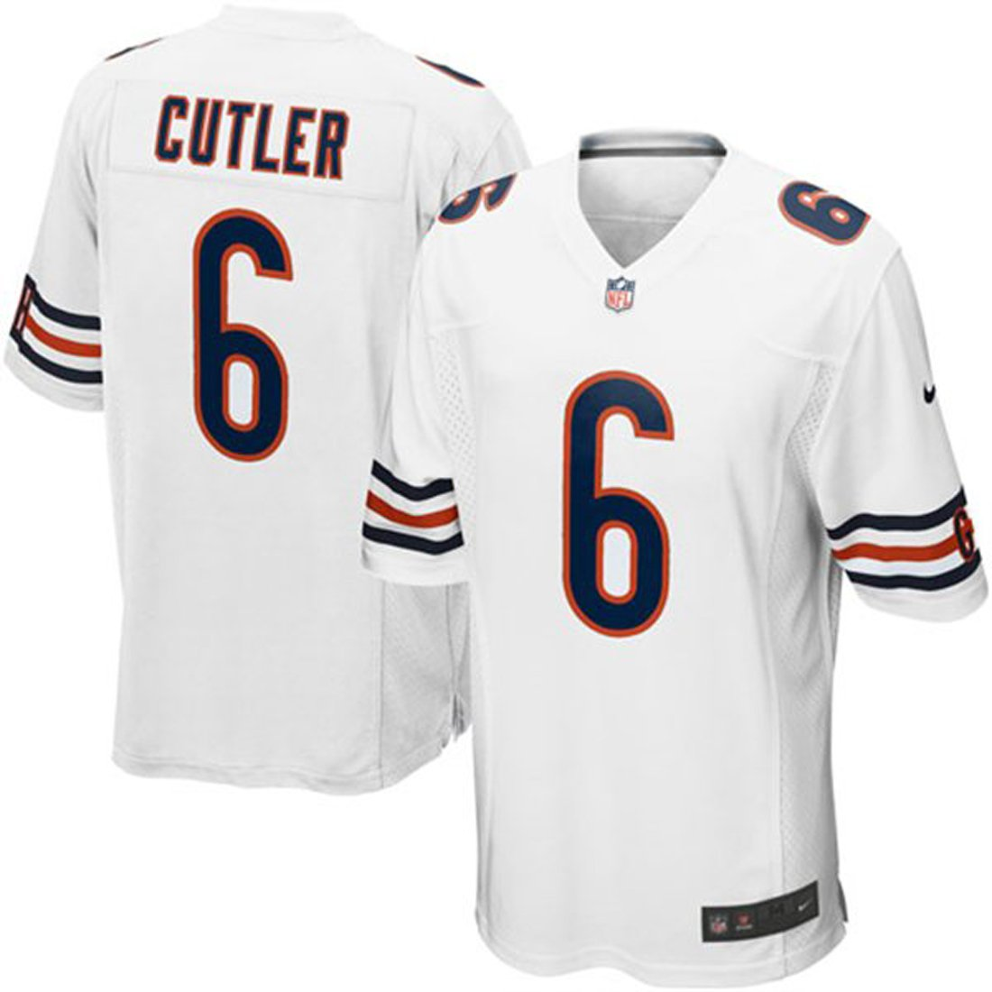 Amazon.com : Chicago Bears Jay Cutler #6 NFL Big Boys Youth Game Jersey,  White (X-Large (18-20)) : Sports & Outdoors