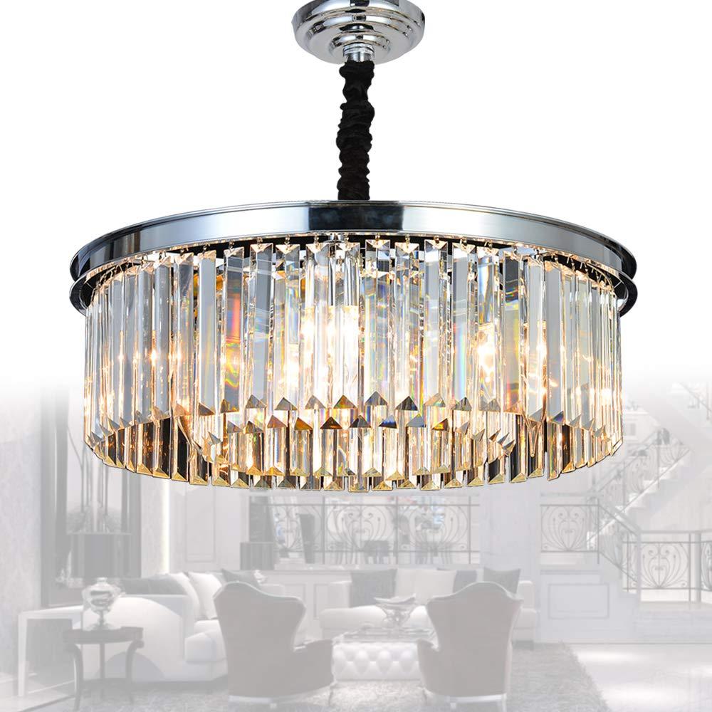 0dcd447f30 Meelighting Crystal Chandeliers Modern Contemporary Ceiling Lights Fixtures  Pendant Lighting Dining Room Living Room Chandelier D21.6