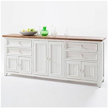Sideboard Weiß Holz Landhaus Byron Xxl Amazonde Küche Haushalt