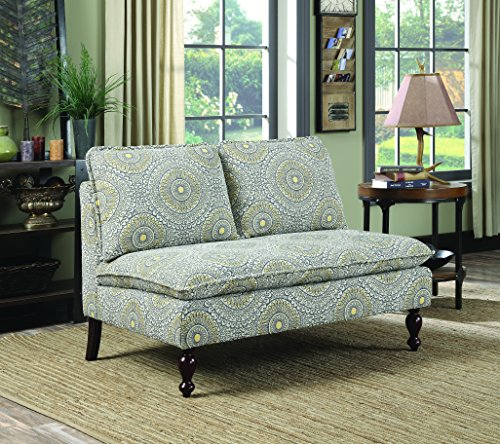 Coaster Home Furnishings 902484 Settee, Blue/Yellow (Bed Settees For Sale)