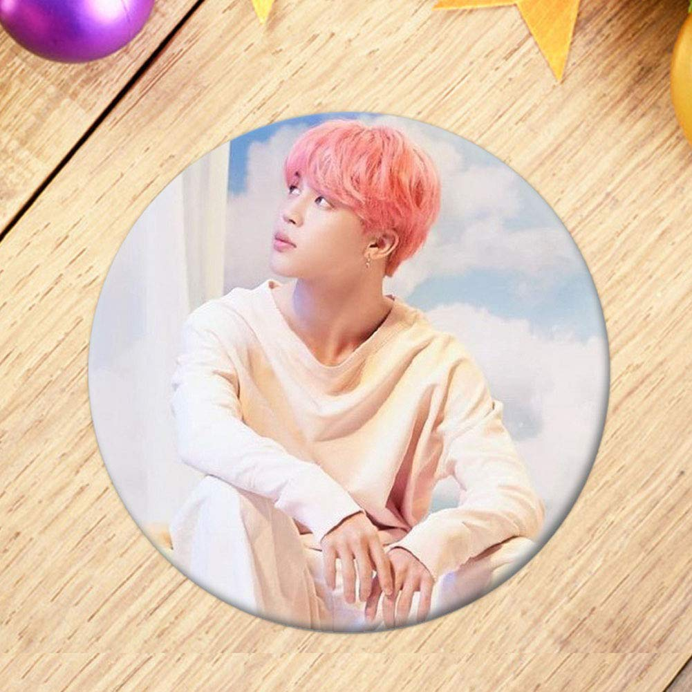 Her dongguanjingxi Kpop BTS Brooch Pin Kpop Love Yourself 承 Best Gift for The Army Brooches Button Badges Pins Set for Clothes Backpack Pencil Case
