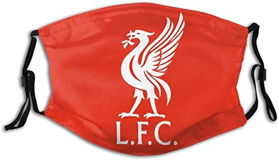 Liverpool L.F.C Golden Logo Unisex Reusable Nose Mouth Face Cover with Adjustable Earloops