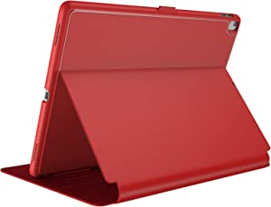 "Speck Products Compatible Case for Apple iPad 9.7"" (2017/2018, Also fits 9.7"" iPad Pro/Air 2/Air), Balance FOLIO Case/Stand, Dark Poppy Red/Velvet Red"