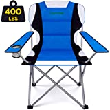Camabel Folding Camping Chairs Outdoor Lawn Chair Padded Sports Chair Lightweight Fold up Adult Camp Chairs Highweight Capaci
