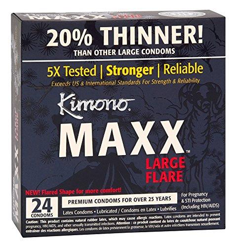 Kimono MAXX Large Flare Latex Condoms, 24 Condoms