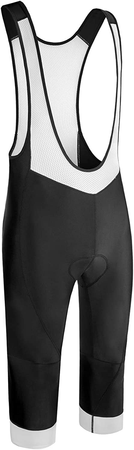 3D Padded Bike Tights Excellent Performance and Better Fit. Spotti Mens 3//4 Capris Cycling Bike Bib Shorts