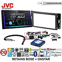 Volunteer Audio JVC KW-X830BTS Double Din Radio Install Kit with Bluetooth SiriusXM Ready Fits 2005-2013 Chevrolet Corvette, 2006-2009 Hummer H3 (Bose and Onstar)