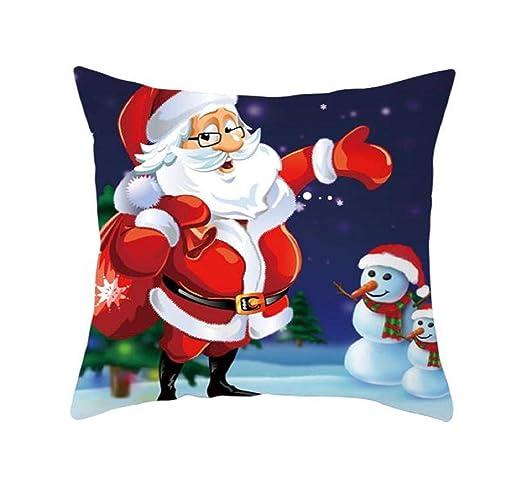 Pausseo Papá Noel Claus - Fundas de almohada de Navidad ...