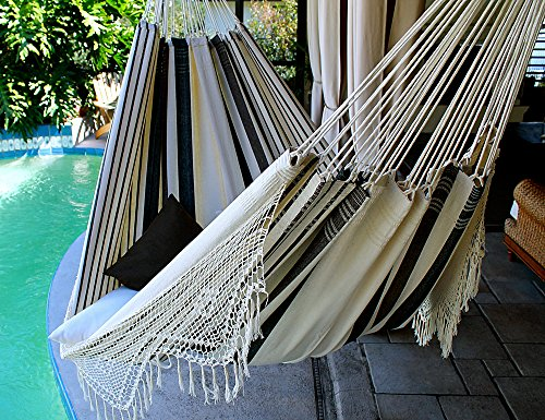 Coconut Flavor – Fine Cotton King Size Hammock with Croche Fringe, Made in Brazil