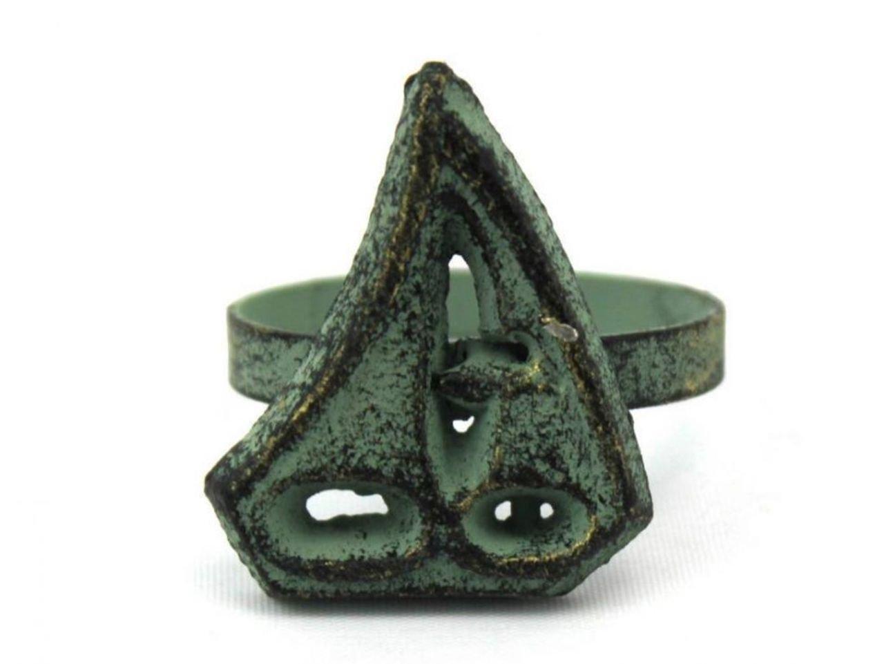 Antique Bronze 2 Hampton Nautical Cast Iron Sailboat Napkin Ring