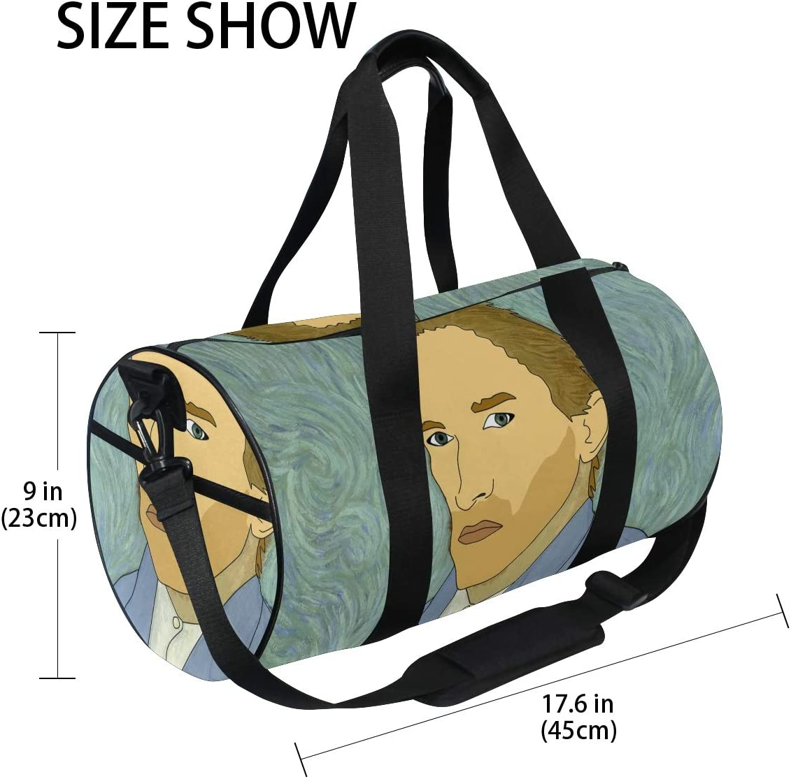 Huakz Van Gogh\'s Self Portrait Travel Duffle Bag Portrait Of Characters Single shoulder bag Blue Oil Painting for Gym Sports and Overnight 61YguCCd9HL