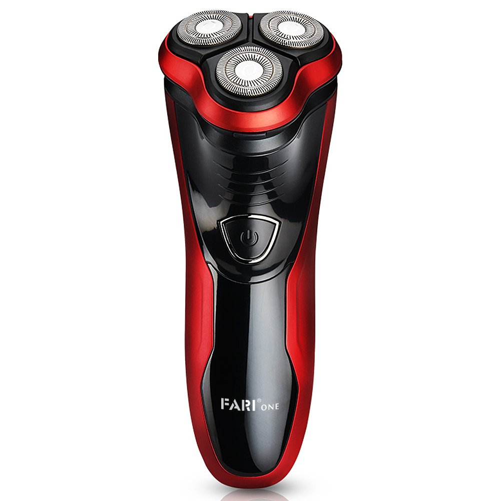 FARI Electric Shaver Razor for Men, Waterproof Shaving Razors with Pop-up Trimmer, Wet Dry 3D Rechargeable Rotary Shaver