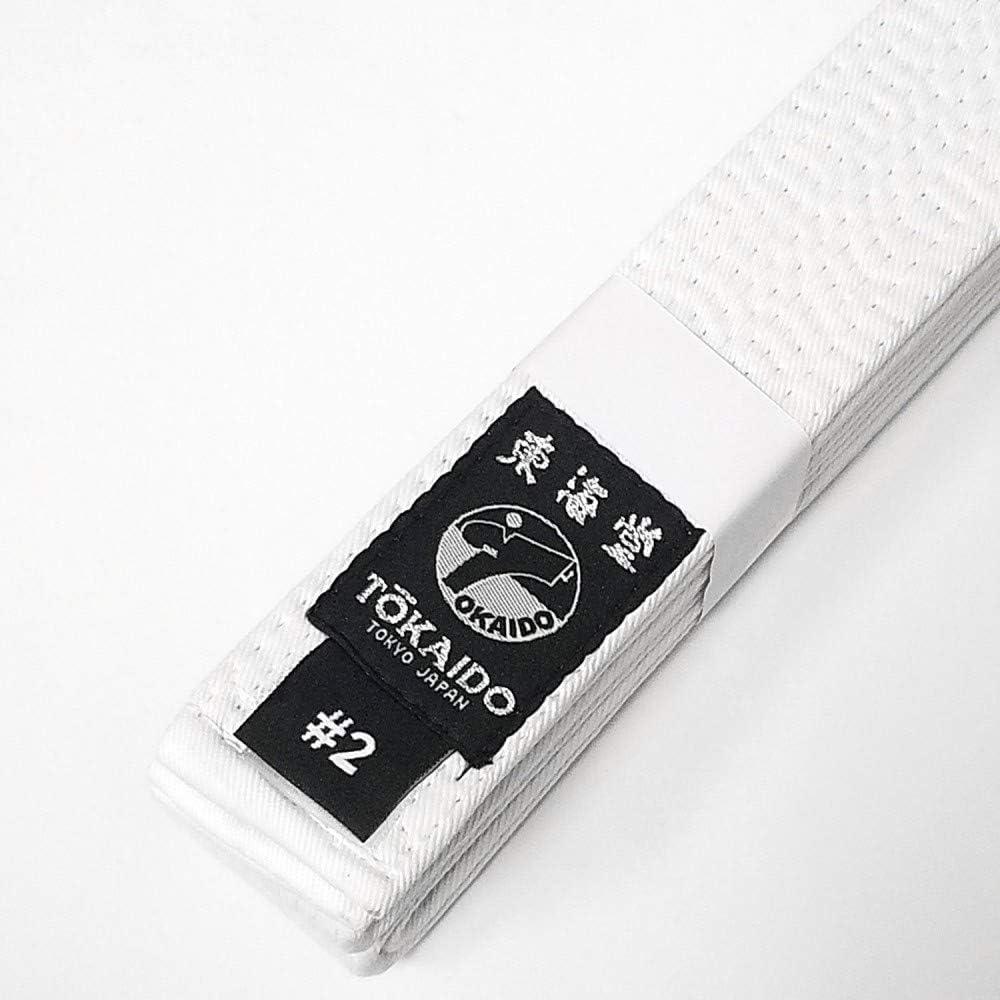 Tokaido Japanese Karate Cotton Belt BLBK PRO