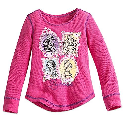 Disney Princess Shirts (Disney Princess Thermal Tee for Girls Size 7/8 Pink456264061309)