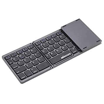 723be96f29c Kkmoon Foldable Mini Ultra Thin Wireless Bluetooth Keyboard with Touchpad  for iPhone 6s/iPad Pro/MacBook Mobile Phone Tablet PC: Amazon.ca:  Electronics