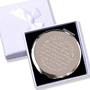 Sister Gifts from Sister or Brother, Sisters Birthday Gift, Christmas/Thanksgiving/Christmas/Holiday Present,Engraved Gifts for Girl
