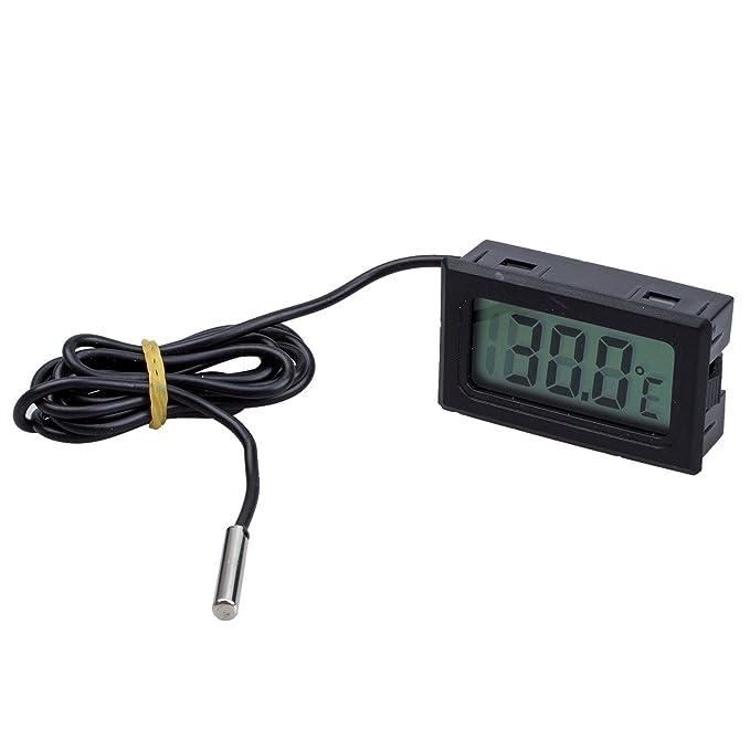 Amazon.com: Pantalla LCD Digital del congelador de la temperatura del termómetro 50 abajo para 110C (Negro): Kitchen & Dining