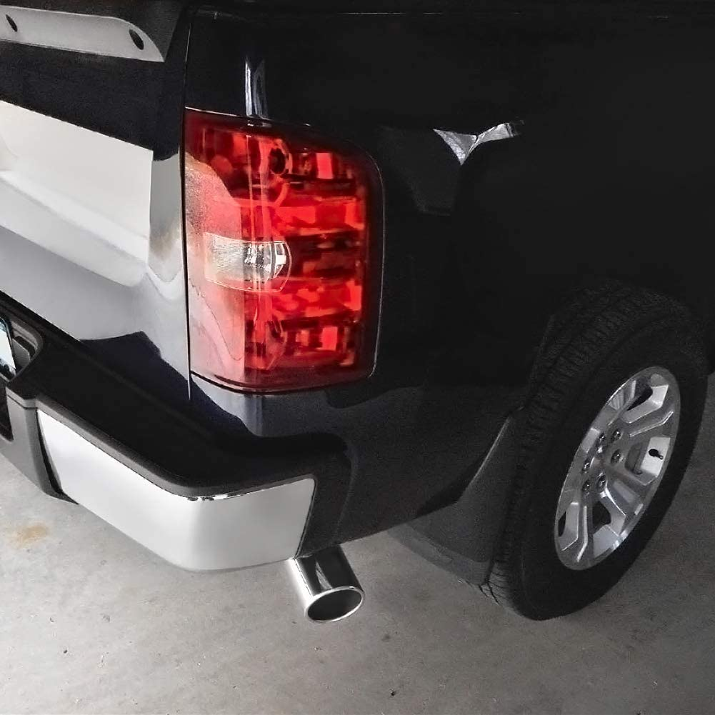 3 x 4.5 x 9 Inches Chrome Polished Stainless Steel Exhaust Tip Bolt On Design. AUTOSAVER88 3 Inch Inlet Exhaust Tip
