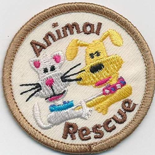 Cub Girl Boy ANIMAL RESCUE Embroidered Iron-On Fun Patch Crests Badge Scout Guides