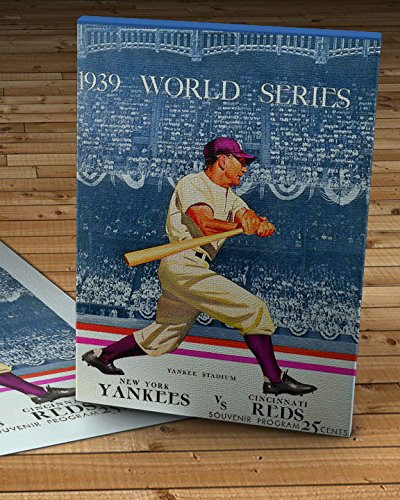 1939 Vintage Cincinnati Reds - New York Yankees World Series Program - Canvas Gallery Wrap - 10 x 14 1939 Cincinnati Reds