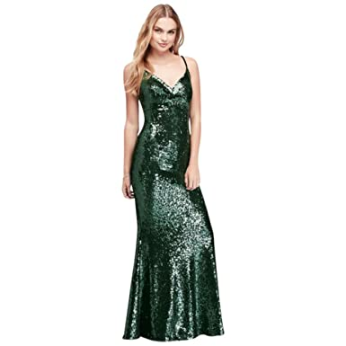 allover Sequined Sheath Prom Dress With Back Strap Style 12479 - Green - 13