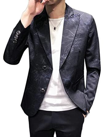 b5472533e Spirio Men Formal Trendy Slim Fit Lapel Casual Blazer Jacket Coat at ...